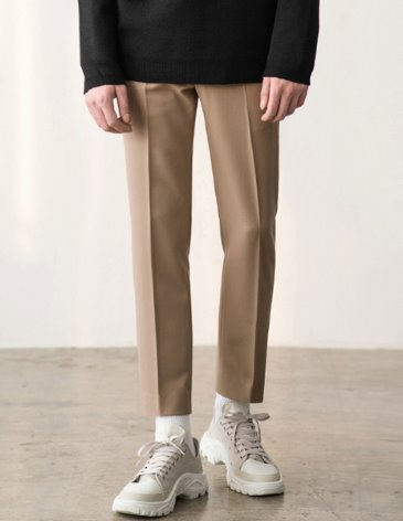 CONTEMPORARY SIDE BANDING SLACKS [BEIGE]