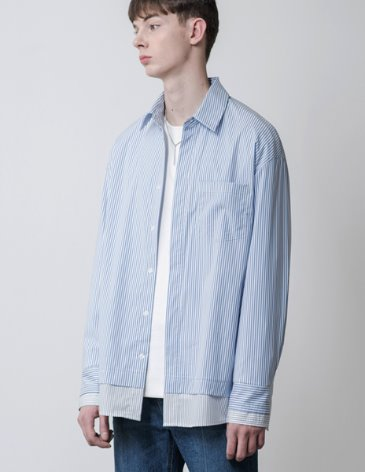 STRIPE MIX OVERFIT SHIRT