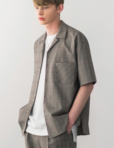 BREEZE GLEN CHECK OPEN COLLAR SHIRT