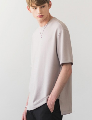 ESSENTIAL BASIC T-SHIRTS [L.GREY]