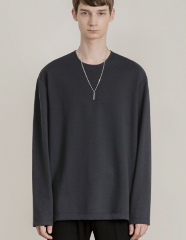 VENT LAYERED T-SHIRT [CHARCOAL]