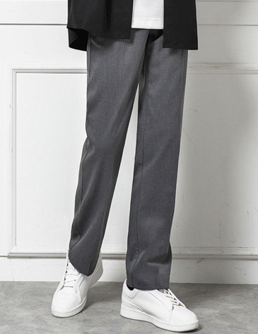 EASY BANDING WIDE SLACKS [GREY]