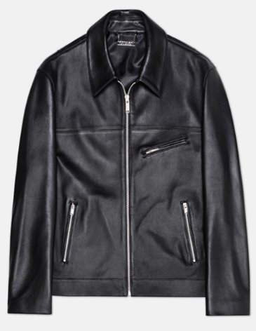 OFFICIAL LEATHER TRUCKER JACKET
