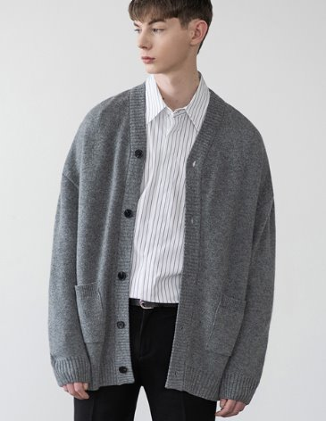 [RE-EDITION] ESSENTIAL CARDIGAN [M.GREY]