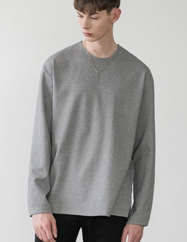 19SS VENT LAYERED T-SHIRT [M.GREY]