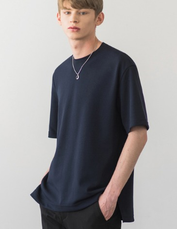 ESSENTIAL BASIC T-SHIRTS [NAVY]