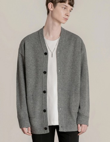 19F/W ESSENTIAL CARDIGAN [GREY]