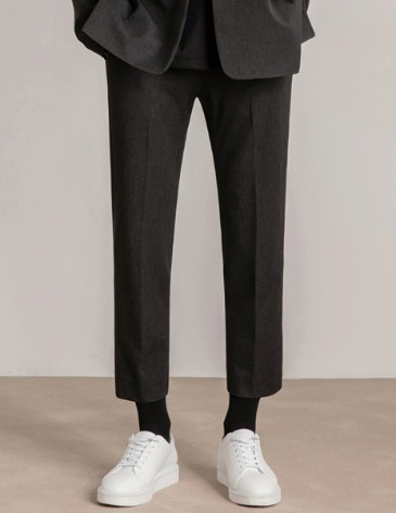 MODERNITY SIDE BANDING SLACKS [CHARCOAL]