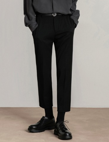 MODERNITY SIDE BANDING SLACKS [BLACK]