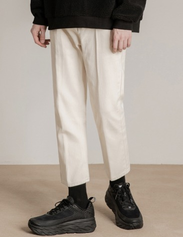 NEWTRO CROP DENIM PANTS [CREAM]