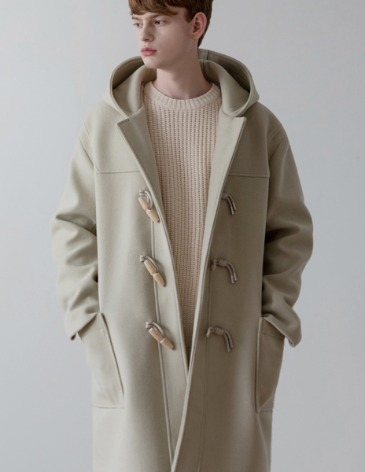 SAINT OVER-FIT HEAVY WOOL DUFFEL COAT [CREAM]
