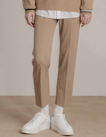 MODERNITY SIDE BANDING SLACKS [BEIGE]