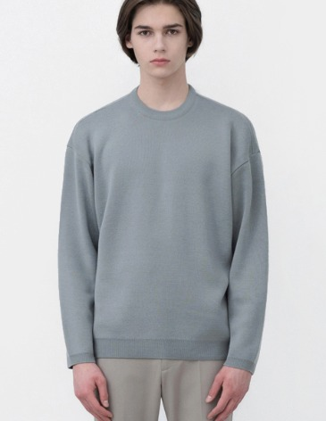 SOF WOOL MINIMAL ROUND KNIT [AIRY BLUE]