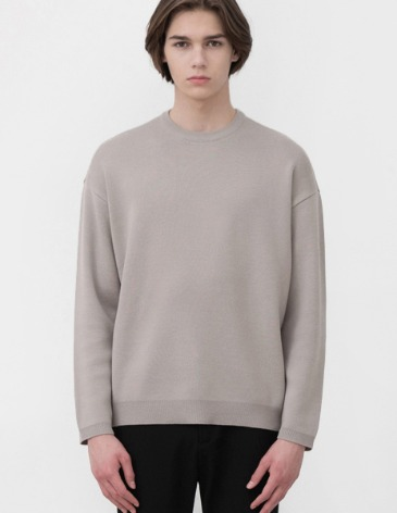 SOF WOOL MINIMAL ROUND KNIT [WARM GREY]