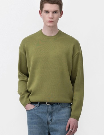 SOF WOOL MINIMAL ROUND KNIT [AVOCADO]