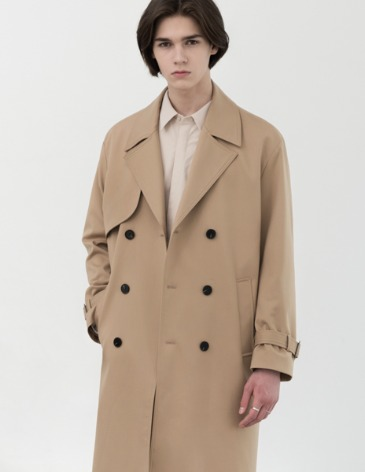 OVERSIZED TRENCH COAT [BIEGE]