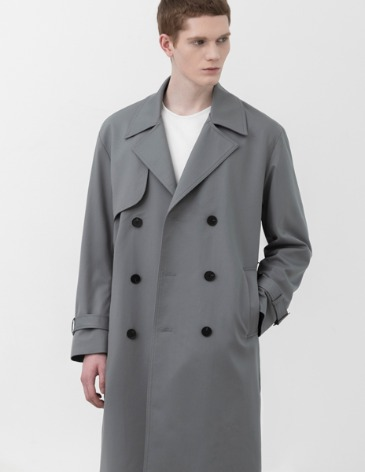OVERSIZED TRENCH COAT [L.GREY]