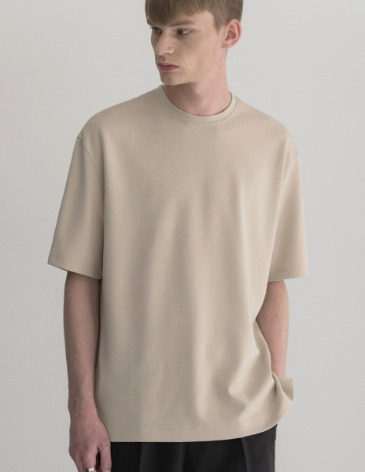 ESSENTIAL BASIC T-SHIRTS [CREAM]