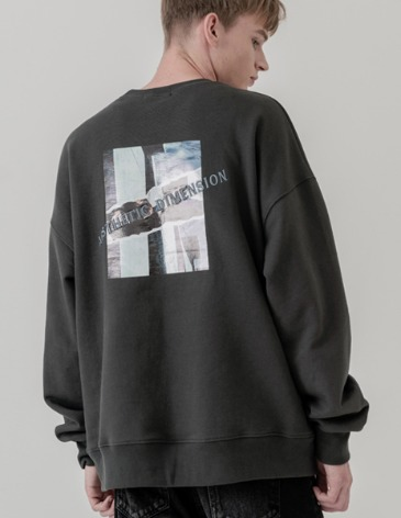 DIMENSION LAYER SWEAT-SHIRT [CHARCOAL]