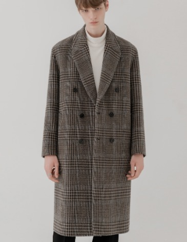 CHECK ROBE DOUBLE COAT [MODERN CHECK]