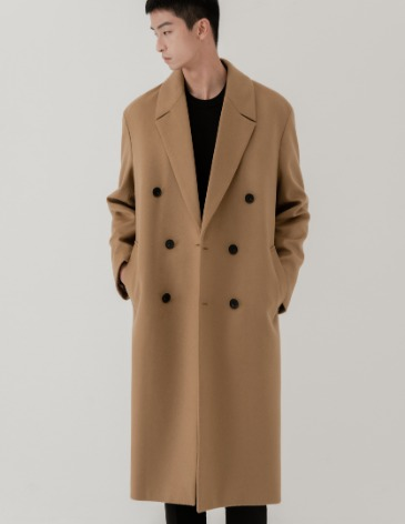 CASHMERE 20 ROBE DOUBLE COAT [CAMEL]