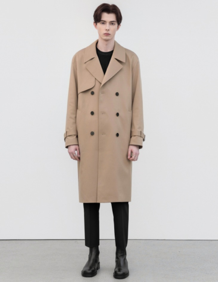 OVERSIZED TRENCH COAT [BEIGE]