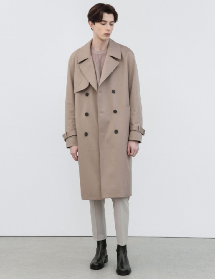 OVERSIZED TRENCH COAT [MOCHA BEIGE]