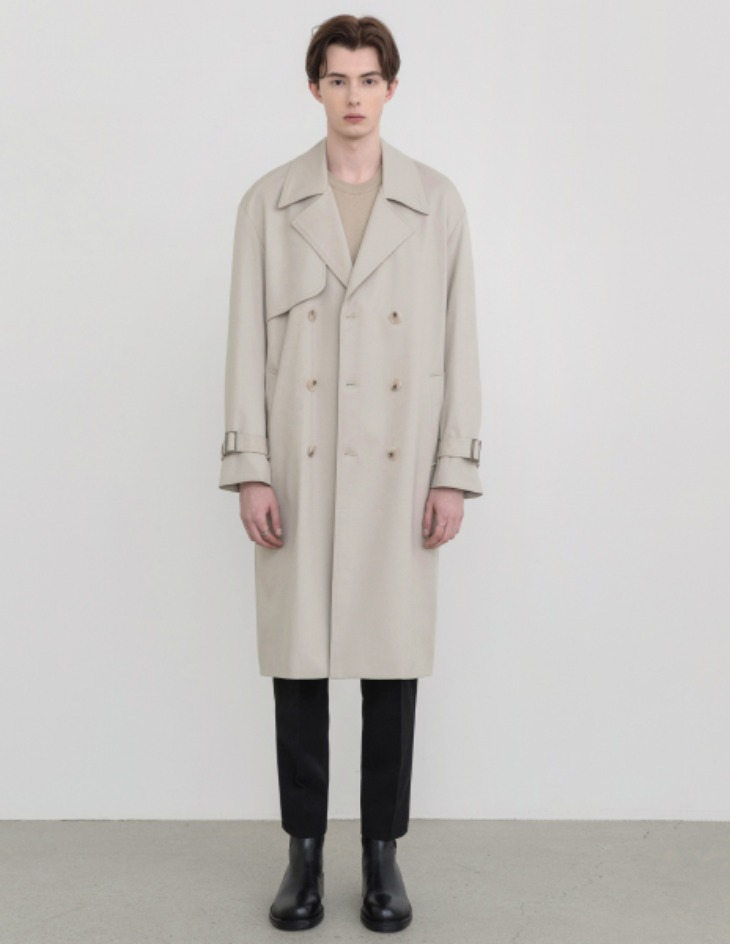 OVERSIZED TRENCH COAT [L.BEIGE]