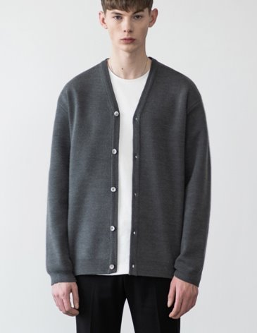 PREMIER EDITION WOOL CASH CARDIGAN [D.GREY]