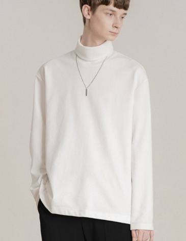 19F/W TURTLE VENT LAYERED T-SHIRT [WHITE]