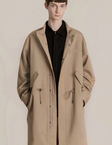 OVERSIZED M-51 COAT JACKET [BEIGE]