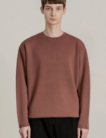 PREMIER EDITION WOOL CASH ROUND KNIT [BRICK]